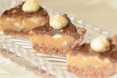 Decadent Caramel Hazelnut Chocolate Wedges (big picture)